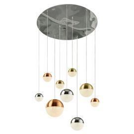 Candelabre, Lustre - Lustra design modern cu 9 pendule LED Planets 9