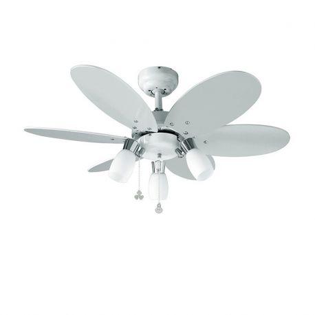 Lustre cu ventilator - Lustra cu ventilator cu palete reversibile alb / multicolor Tones