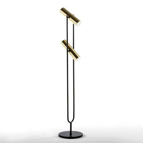 Lampadare - Lampadar design industrial Gold/ Black, H-120cm