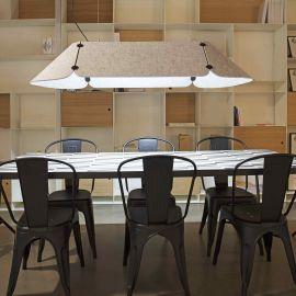 Candelabre, Lustre - Lustra LED pentru birouri design modern FONOVIA gri