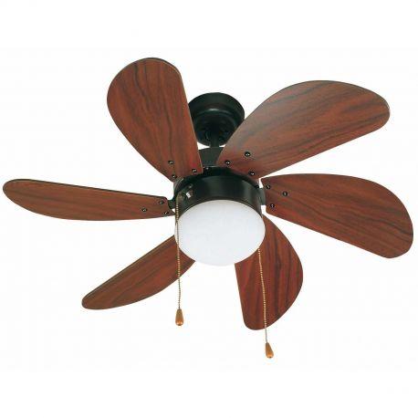 Lustre cu ventilator - Lustra cu Ventilator de tavan stil clasic Palao maro