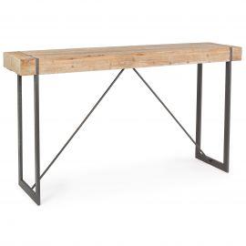 Mese Bar - Masa bar design nordic cu blat din lemn GARRETT 200x50