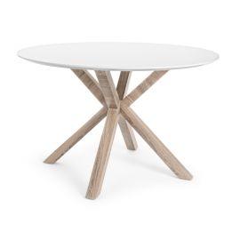 Mese dining - Masa rotunda cu design modern KENYA alba 120