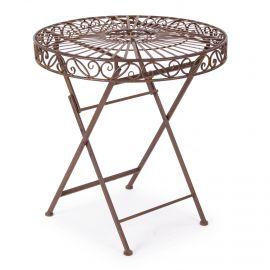 Mese dining - Masa rotunda cu design rustic MELANIE 70 maro