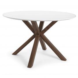 Mese dining - Masa cu design industrial STAR 120 alb