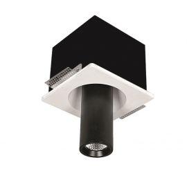 Spoturi incastrabile spatii comerciale - Spot ajustabil design modern incastrabil GIACOMO alb/negru H-18,3cm