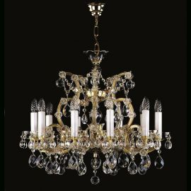 Lustre Cristal Bohemia  - Candelabru Cristal Exclusive 10 brate MARIA TEREZIA 13