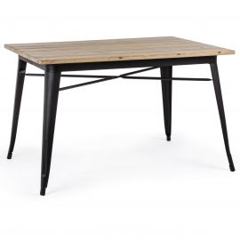 Mese dining - Masa cu design nordic industrial MINNESOTA 80x120 negru