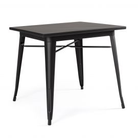 Mese dining - Masa cu design nordic industrial MINNESOTA 80x80 negru