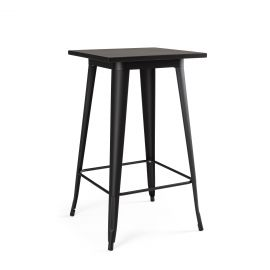 Mobila - Masa de bar cu design nordic industrial MINNESOTA negru