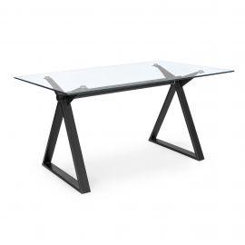 Birou cu design modern JOB negru 150x90