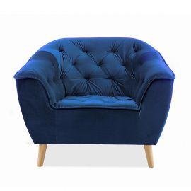Fotolii - Fotoliu tapitat elegant GALAXY catifea albastru