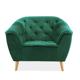 Fotolii - Fotoliu tapitat elegant GALAXY catifea verde