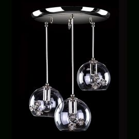 Lustre Cristal Bohemia  - Lustra cu 3 pendule design LUX decorativ PRIMAVERA 05-CN