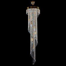 Lustre Cristal Bohemia - Lustra, Pendul Cristal Exclusive diam.30cm SPIRAL 300x1200 balls