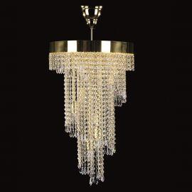 Lustre Cristal Bohemia - Lustra, Pendul Cristal Exclusive diam.40cm SPIRAL 400x700 drops