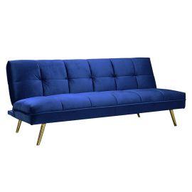 Canapea tapitata extensibila MORITZ catifea albastra
