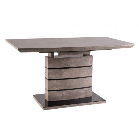 Mese extensibile - Masa Dining extensibila LEONARDO 140-180x80cm, furnir cu efect de ciment