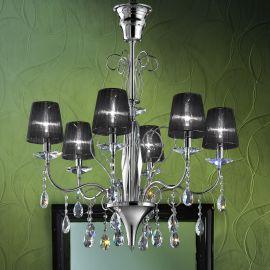 Lustra 6 brate eleganta design LUX Cristal Swarovski Spectra ORCHIDEA