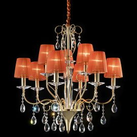Lustra 9 brate Cristal Asfour, eleganta design LUX ORCHIDEA