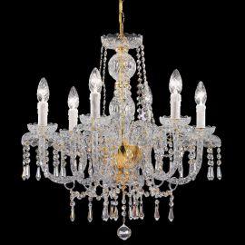 Lustre Cristal Swarovski - Candelabru cu 6 brate Cristal Swarovski Elements Elegance