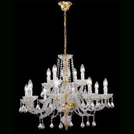 Lustre Cristal Swarovski - Candelabru cu 12 brate Cristal Swarovski Elements Elegance