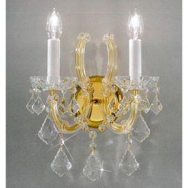 Aplice Cristal Asfour - Aplica cu 2 brate design LUX Cristal Asfour MARIA THERESA