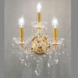 Aplice Cristal Asfour - Aplica cu 3 brate design LUX Cristal Asfour MARIA THERESA