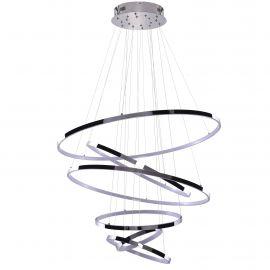 Corpuri de iluminat Lustre pentru casa scarii - Lustra LED dimabila design modern casa scarii Wheel 6 Long crom
