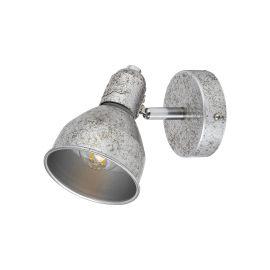 Aplice cu Spot - Aplica de perete cu 1 spot design industrial THELMA argintiu antic