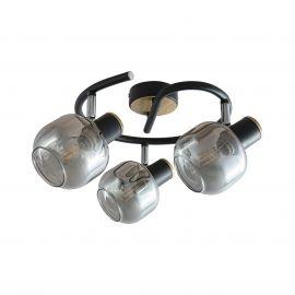 Lustre aplicate - Lustra aplicata cu 3 spoturi design industrial SALAZAR stejar