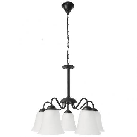 Candelabre, Lustre - Candelabru clasic cu 5 brate design elegant FABIOLA negru mat