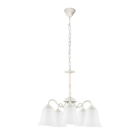 Candelabre, Lustre - Candelabru clasic cu 5 brate design elegant FABIOLA alb antic