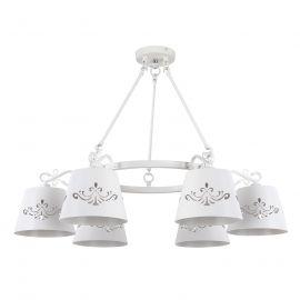 Candelabre, Lustre - Candelabru cu 6 brate design clasic ANNA alb mat