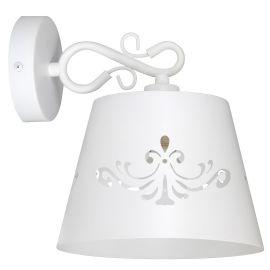 Aplice, corpuri de iluminat pentru pereti - Aplica de perete design clasic ANNA alb mat