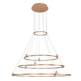 Spoturi, Proiectoare pe sina  - Sistem circular magnetic-decorativ DION D-100cm, auriu satinat