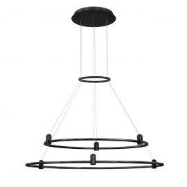 Spoturi, Proiectoare pe sina  - Sistem circular magnetic-decorativ DION D-80cm, negru