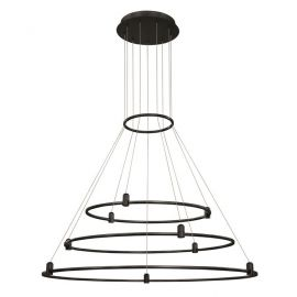 Spoturi, Proiectoare pe sina  - Sistem circular magnetic-decorativ DION D-100cm, negru