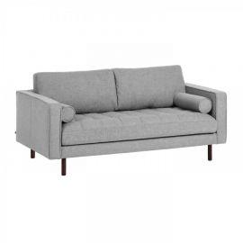 Canapele - Canapea fixa 2 locuri BOGART tesatura gri deschis