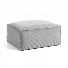 Banchete-Tabureti - Taburete, suport pentru picioare Blok 90x70 velveteen gri