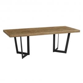 Mese dining - Masa design industrial-vintage Davena, 220x90cm
