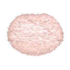 Pendule, Lustre suspendate - Abajur modern cu pene de gasca EOS roz, 65cm