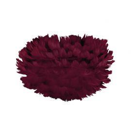 Pendule, Lustre suspendate - Abajur modern cu pene de gasca EOS mini rosu, 35cm