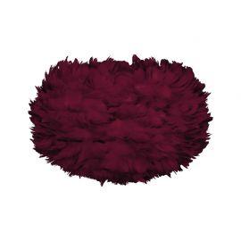 Pendule, Lustre suspendate - Abajur modern cu pene de gasca EOS mediu rosu, 45cm