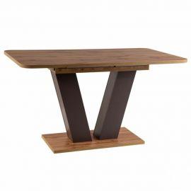 Mese extensibile - Masa Dining extensibila PLATON 136-176X80cm stejar/ maro