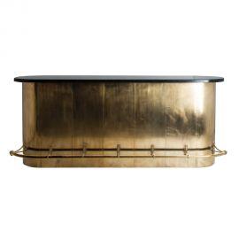 Vitrine - Bar stil Art Deco Vintage realizat din alama si marmura COUNTER HEARST 26997 VH