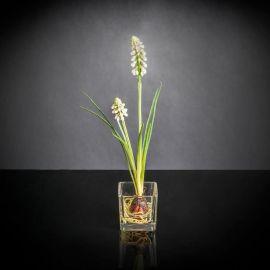 Aranjamente florale LUX - Aranjament floral mic decor festiv design LUX ETERNITY CUBO SINGLE MUSCARI