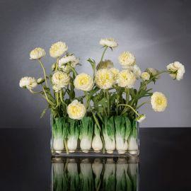 Aranjamente florale LUX - Aranjament floral decor festiv design LUX RECTANGULAR VASE ZANTE