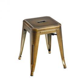 Seturi scaune, HoReCa - Set de 2 scaune design industrial DALLAS H-45cm auriu