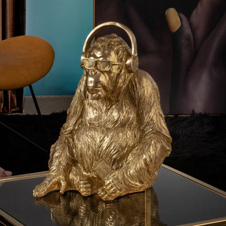 Statuete  - Statueta / Figurina decorativa medium Orangutan Music